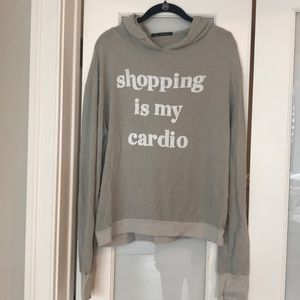 Wildfox 'Shopping is My Cardio' sweatshirt